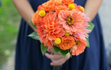Orange and Yellow Garden Wedding   Brae Howard Photography   Bridal Musings Wedding Blog 18