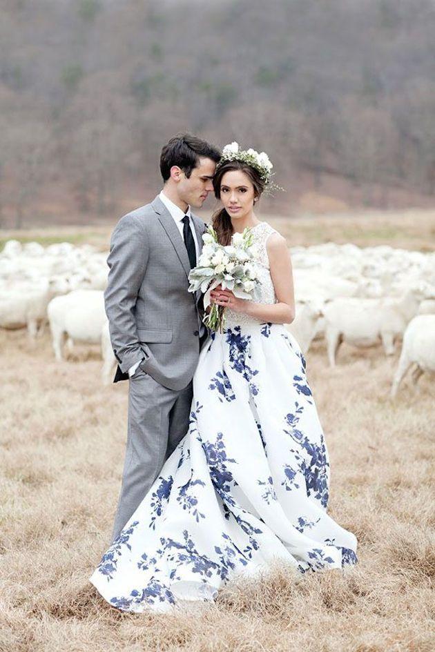 15 HeadOverHeels Gorgeous Floral Wedding Dresses