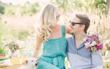 Chic Champagne Picnic Engagement Shoot | Peter and Veronika Photography | Bridal Musings Wedding Blog 5
