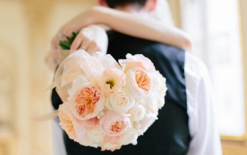 French Destination Wedding with a Chateau Garden Ceremony