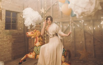 """Whimsical, Wonderful, """"Up In The Clouds"""" Wedding Inspiration"""