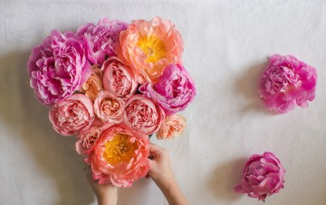 DIY Fresh Flower Heart Tutorial
