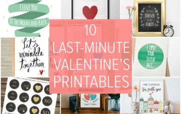 Last Minute Valentine: 10 Sweet Etsy Printables for Valentine's Day