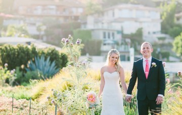Coral and Navy Yacht Club Wedding in San Diego
