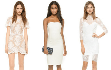 30 Chic & Sexy LWDs (Little White Dresses) For The Bachelorette Party & Beyond