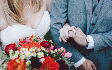 Childhood Sweethearts' Sweet Fall Winery Wedding