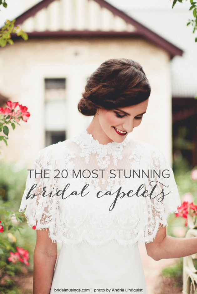 11158f1d4390f The 20 Most Stunning Bridal Capelets | Bridal Musings Wedding Blog