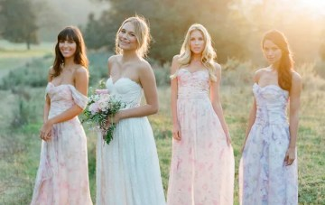The Prettiest Mix & Match Bridesmaids Dresses by PPS Couture