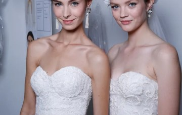 Best of Bridal Fashion Week: Backstage Beauty & Marchesa Wedding Dresses