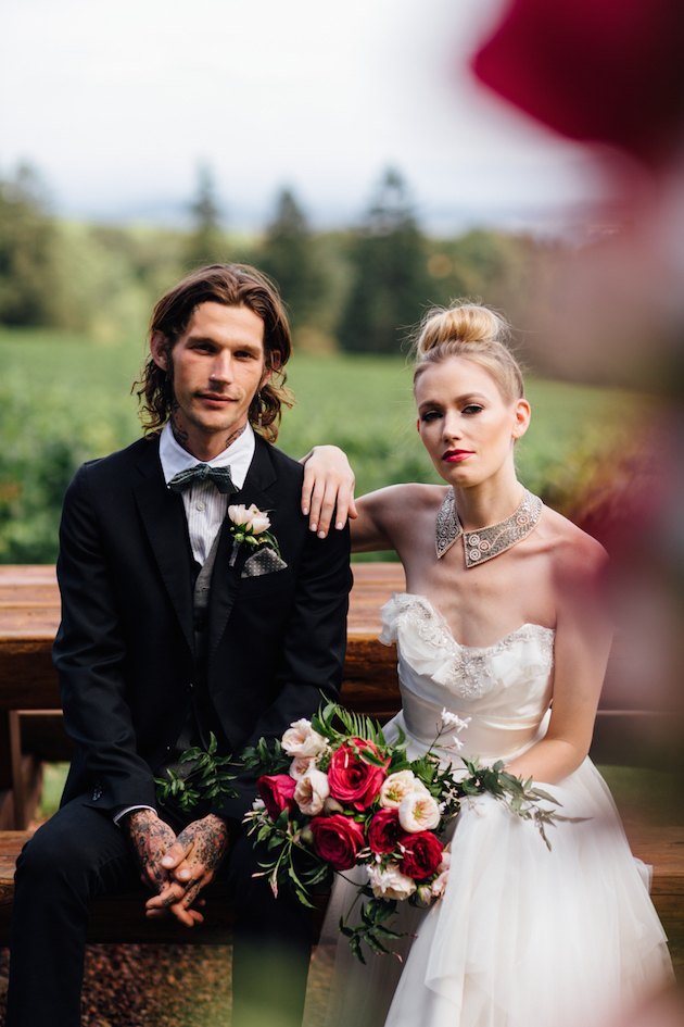 Hipster Rustic: Unique Winery Wedding Inspiration
