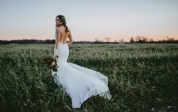Exclusive Look: Katie May Montreal Backless Wedding Dress