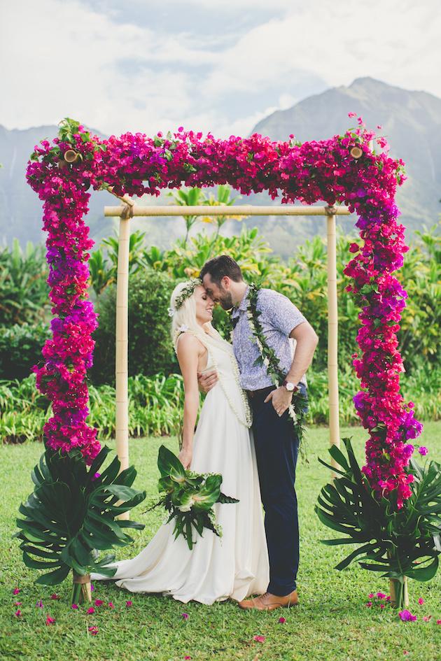 Cool colourful gorgeous hawaiian wedding junglespirit Gallery