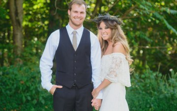 Romantic Boho Wedding with Cool Bridal Party Style
