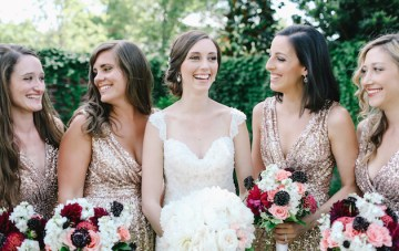 Sweet 4th of July Wedding with Sequins & Sparklers