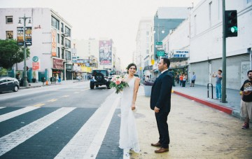 Cool LA Wedding with an Awesome Food Truck and Fun Photobooth