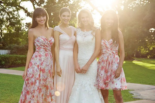 Gorgeous Mix & Match Bridesmaid Dresses from Allure Bridals