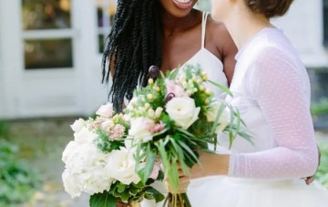 Super Chic Wedding with Glamorous Style and a Rustic Setting