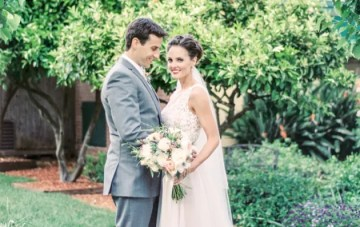 Intimate & Elegant Vintage Garden Wedding