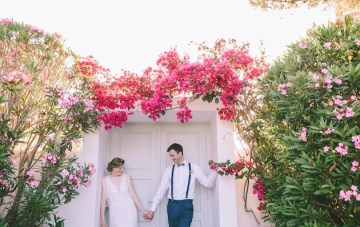 Colourful & Fun Destination Wedding in Greece