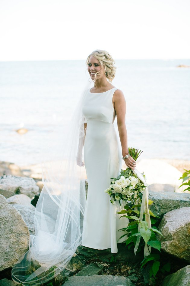 Backyard Wedding Dresses chic backyard wedding in maine (with whiskey & lobster)