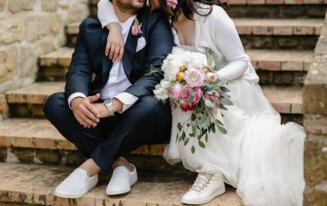Cool Italian Wedding (With Florals, Cigars and a Motorbike)