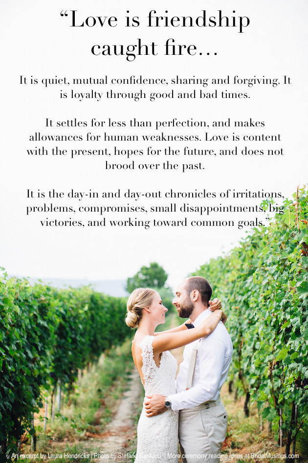 Real Bride Diary Our Ceremony Readings