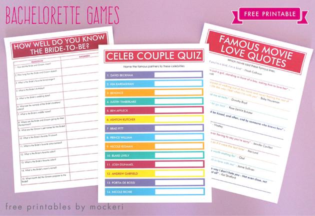 free printable bachelorette games