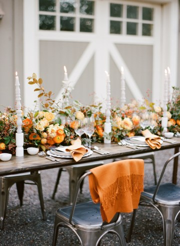 Rustic Fall Wedding Inspiration by Sylvia Gil Photography and Kate Siegel 12