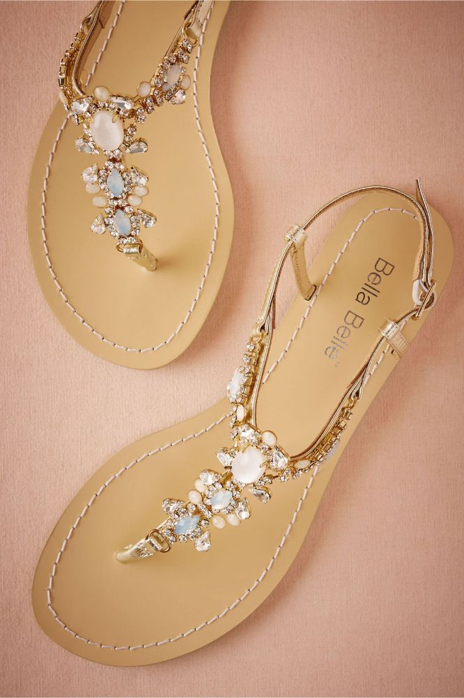 6a352fca9 Beach Bride Sandals. Bridal Sandals by Bella Belle Shoes via BHLDN