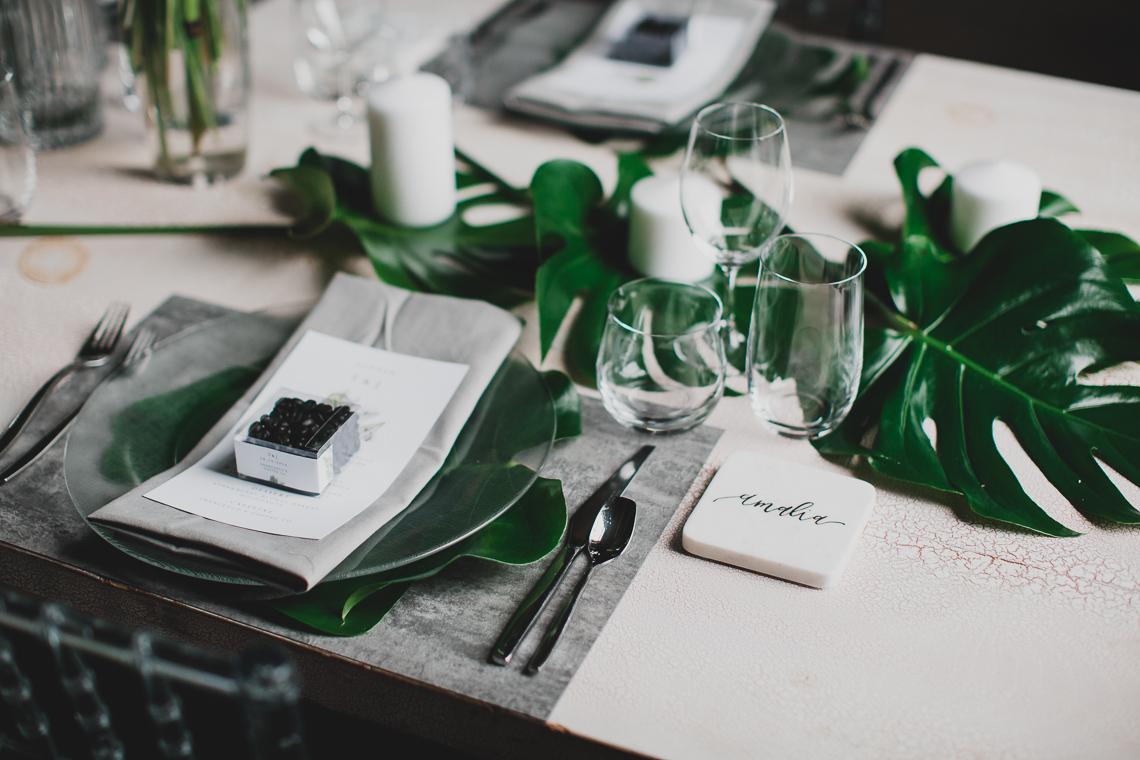 Moody & Modern Warehouse Wedding Inspiration by Jonathan Kuhn Photography 16