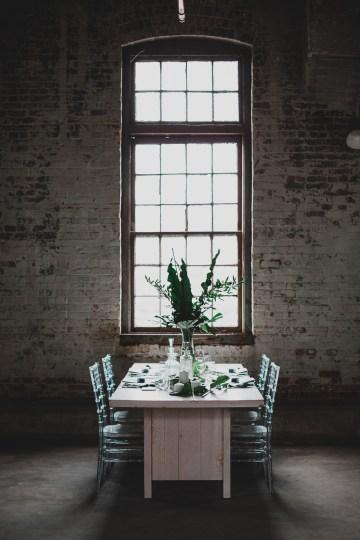Moody & Modern Warehouse Wedding Inspiration by Jonathan Kuhn Photography 17