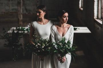 Moody & Modern Warehouse Wedding Inspiration by Jonathan Kuhn Photography 2
