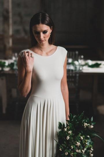 Moody & Modern Warehouse Wedding Inspiration by Jonathan Kuhn Photography 6