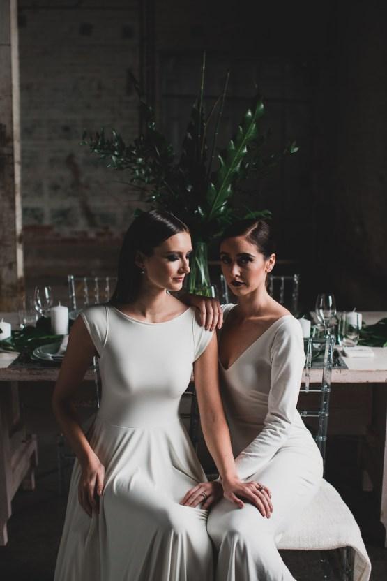 Moody & Modern Warehouse Wedding Inspiration by Jonathan Kuhn Photography 9