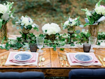 Woodland Wedding Inspiration by Molly Lichten Photography and Jamie Leigh Events 2