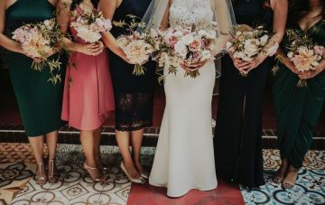 Glamorous & Stylish Wedding by Katie Branch Photography and Jen Kruger Design 12
