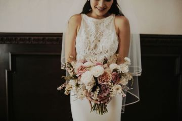 Glamorous & Stylish Wedding by Katie Branch Photography and Jen Kruger Design 18