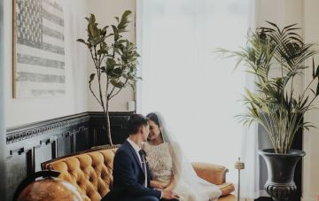 Glamorous & Stylish Wedding by Katie Branch Photography and Jen Kruger Design 48