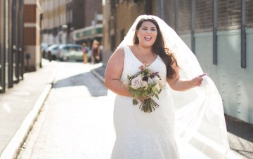 Callie Thorpe on being a plus size bride | Photo by Kirsty MacKenzie 2