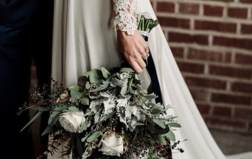 Moody Winter Wedding Inspiration by Kelcy Leigh Photography 13