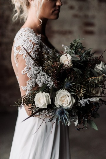 Moody Winter Wedding Inspiration by Kelcy Leigh Photography 23