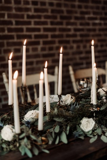 Moody Winter Wedding Inspiration by Kelcy Leigh Photography 5