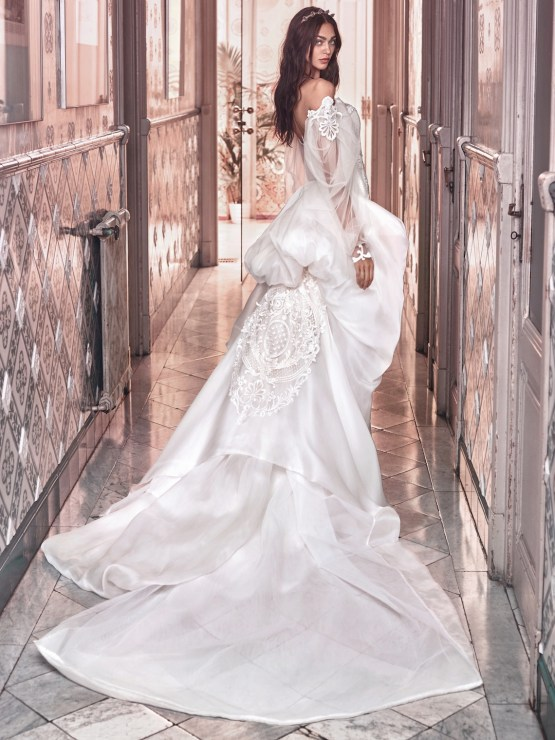 Thelma and Ossie train back Galia Lahav Wedding Dress Collection 2018 27