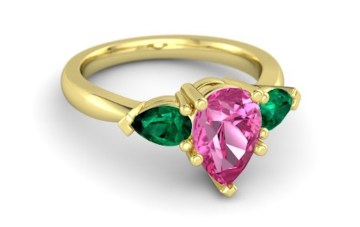 pear-pink-sapphire-14k-yellow-gold-ring-with-emerald