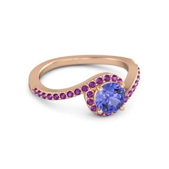 round-tanzanite-18k-rose-gold-ring-with-rhodolite-garnet