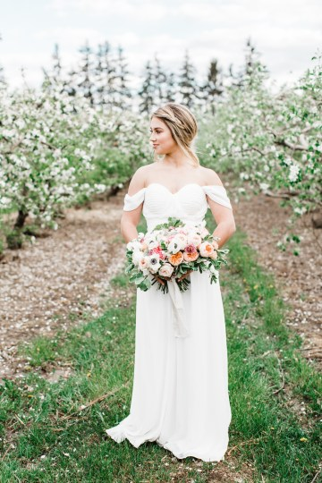 Bright and Colorful Apple Blossom Orchard Wedding Inspiration | Shanell Photography & Mitten Weddings and Events 26