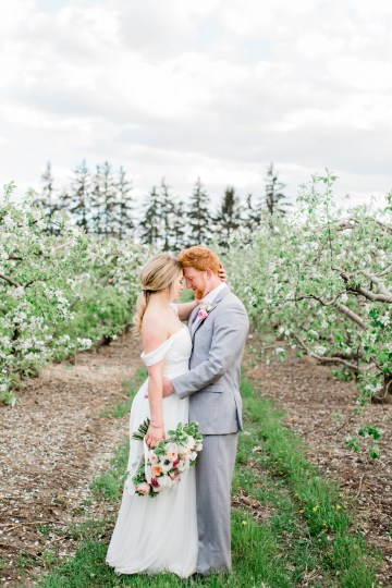 Bright and Colorful Apple Blossom Orchard Wedding Inspiration | Shanell Photography & Mitten Weddings and Events 29