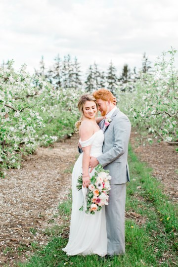 Bright and Colorful Apple Blossom Orchard Wedding Inspiration | Shanell Photography & Mitten Weddings and Events 30
