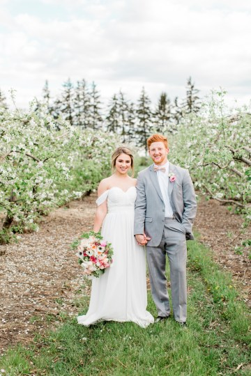 Bright and Colorful Apple Blossom Orchard Wedding Inspiration | Shanell Photography & Mitten Weddings and Events 32