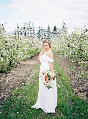 Bright and Colorful Apple Blossom Orchard Wedding Inspiration | Shanell Photography & Mitten Weddings and Events 67